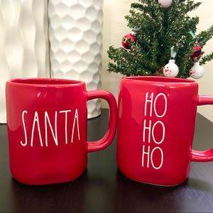 Rae Dunn 'SANTA' & 'HO HO HO' Christmas Red Mug